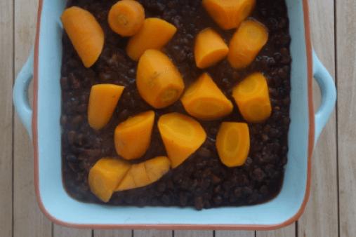 Azukibohnen mit Möhren